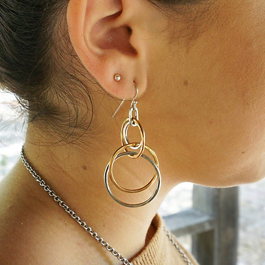 View Larger Image of Cascading Circles Ear Hooks