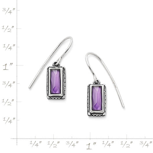 View Larger Image of Palais Violet Doublet Ear Hooks