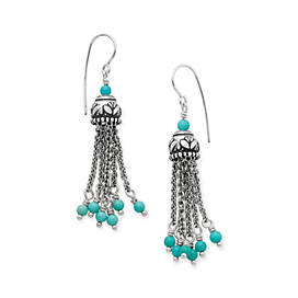 Tassel Ear Hooks with Turquoise