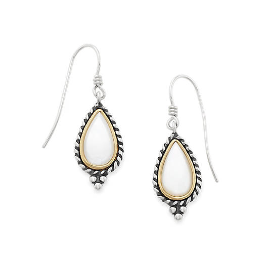 Alessandra Mother of Pearl Ear Hooks