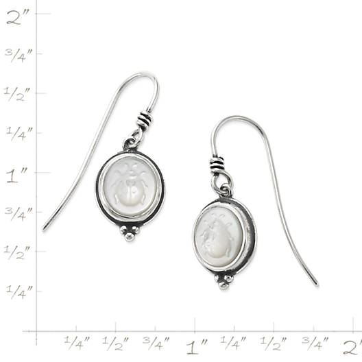 View Larger Image of Sculpted Ladybug White Doublet Ear Hooks
