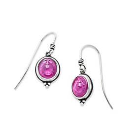 Sculpted Ladybug Pink Triplet Ear Hooks