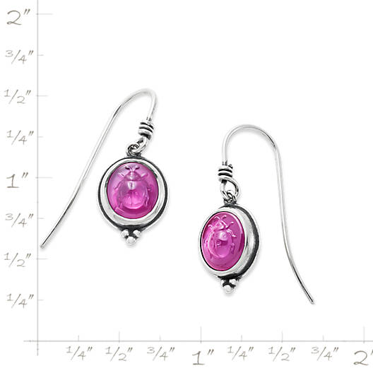 View Larger Image of Sculpted Ladybug Pink Triplet Ear Hooks