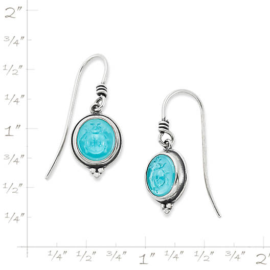 View Larger Image of Sculpted Ladybug Teal Triplet Ear Hooks
