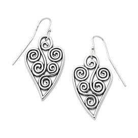 Athenian Heart Ear Hooks