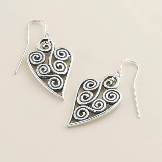 View Larger Image of Athenian Heart Ear Hooks