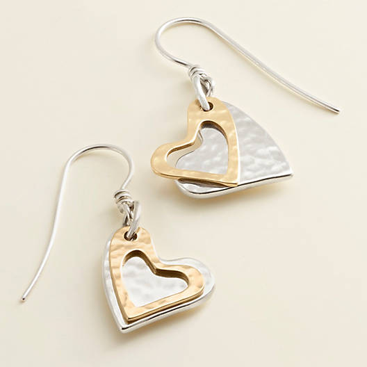 View Larger Image of Fearless Heart Ear Hooks