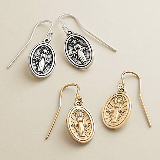 View Larger Image of Virgin Mary Ear Hooks