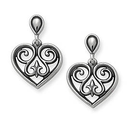 French Heart Ear Posts