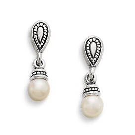 Vintage Cultured Pearl Ear Posts