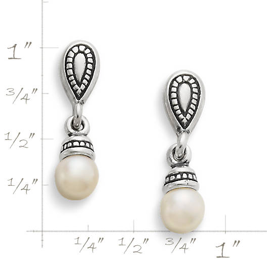 View Larger Image of Vintage Cultured Pearl Ear Posts