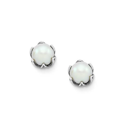 Cultured Pearl Pod Ear Posts