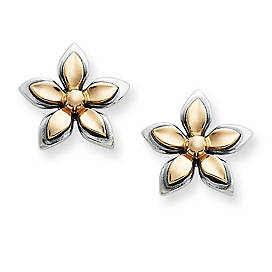 Gold & Silver Gentle Blossom Ear Posts
