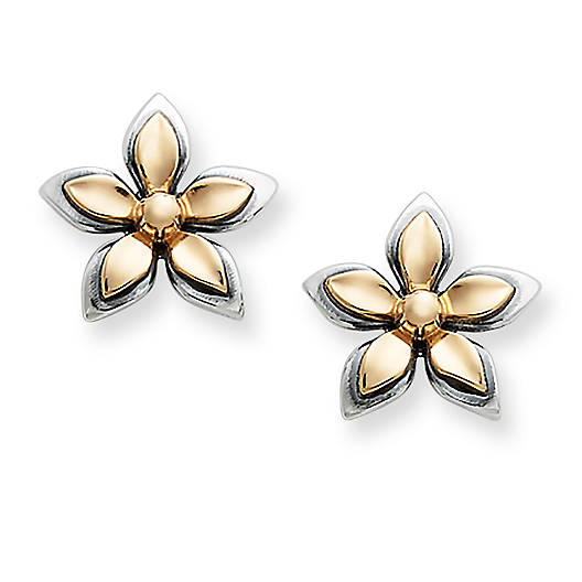 View Larger Image of Gold & Silver Gentle Blossom Ear Posts