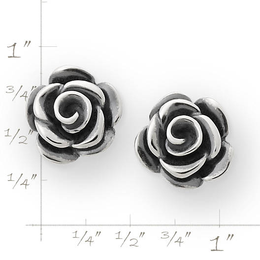 View Larger Image of Rose Blossom Ear Posts