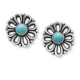 De Flores Ear Posts with Turquoise