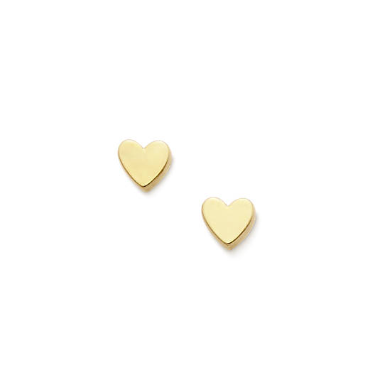 View Larger Image of Tiny Heart Ear Posts