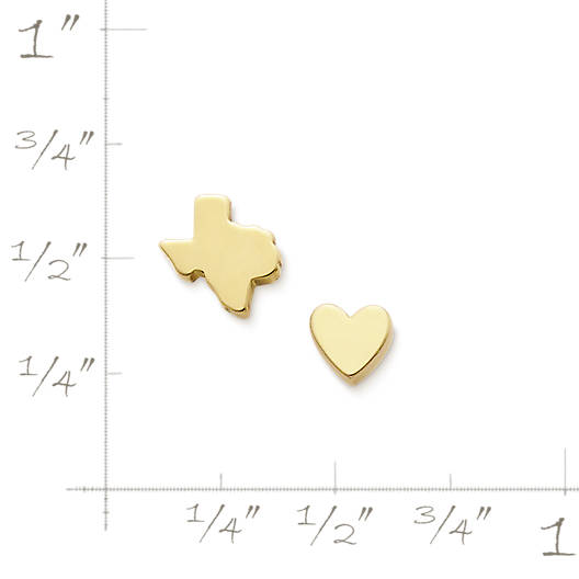 View Larger Image of Tiny Texas & Heart Ear Posts