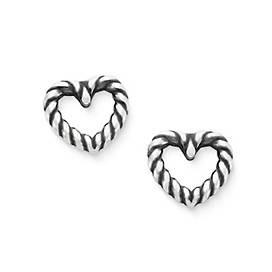 Twisted Wire Heart Ear Posts
