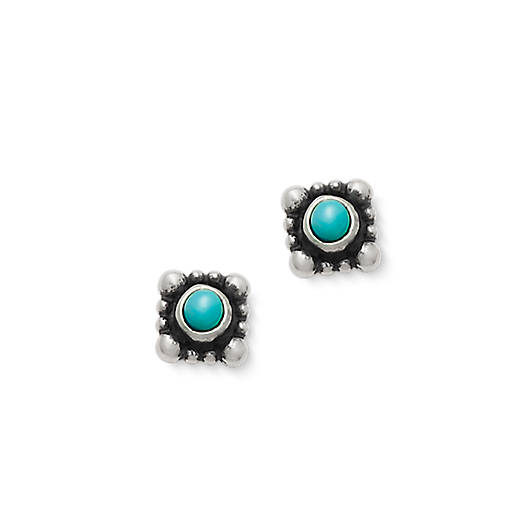 View Larger Image of Beaded Itty Bitty Turquoise Ear Posts