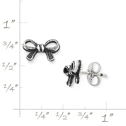 View Larger Image of Petite Vintage Bow Ear Posts