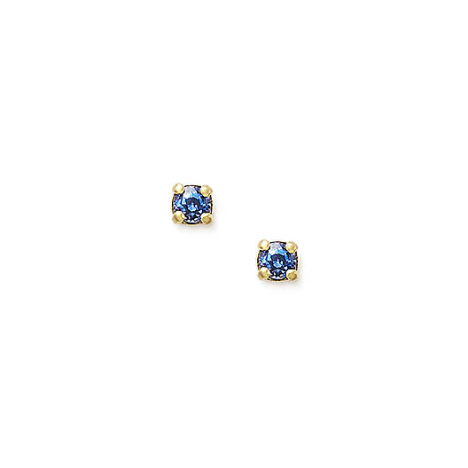View Larger Image of Petite Ear Posts with Lab-Created Blue Sapphire