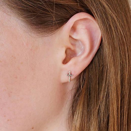 View Larger Image of Horizon Cross Ear Posts