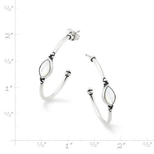 View Larger Image of Adela Hoop Ear Posts with Mother of Pearl