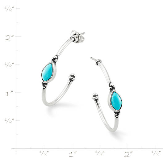 View Larger Image of Adela Hoop Ear Posts with Turquoise