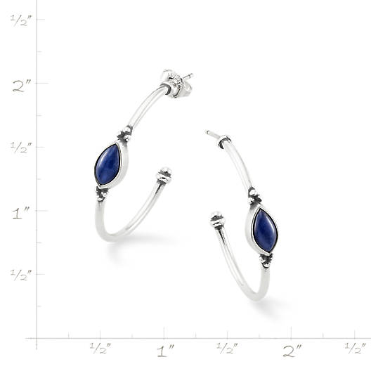 View Larger Image of Adela Hoop Ear Posts with Sodalite