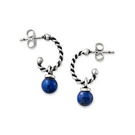 Twisted Wire Ear Posts with Sodalite Bead