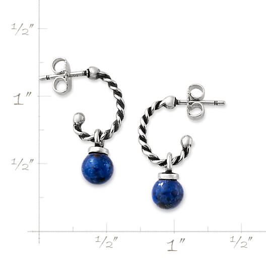 View Larger Image of Twisted Wire Ear Posts with Sodalite Bead