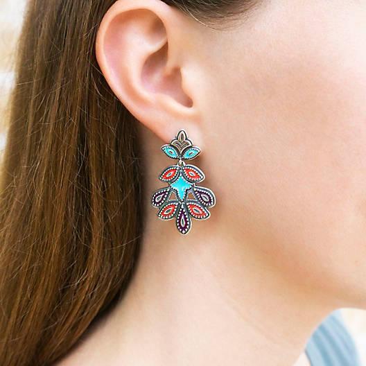 View Larger Image of Enamel Cordoba Mosaic Ear Posts
