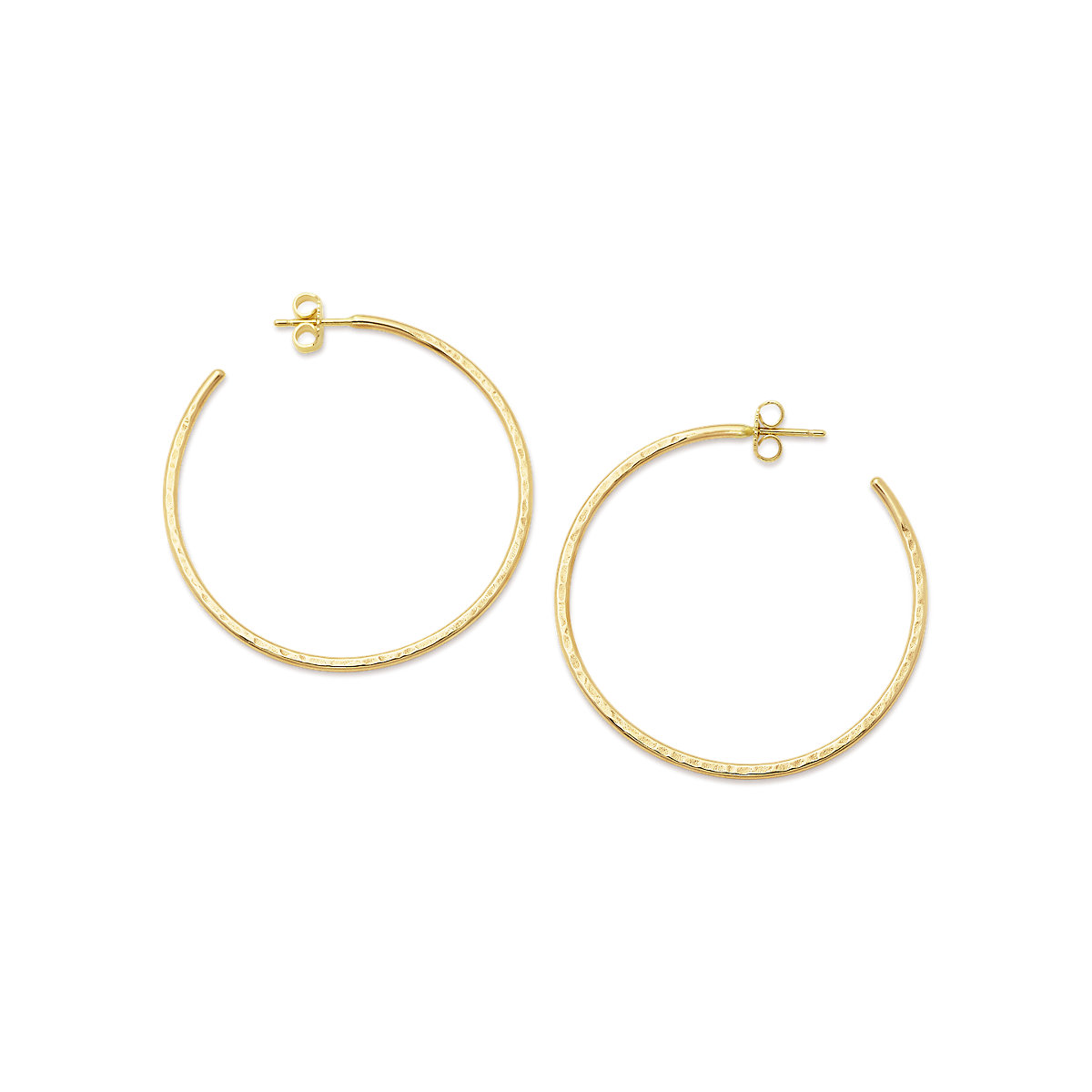 Classic Hammered Hoop Earrings Large James Avery