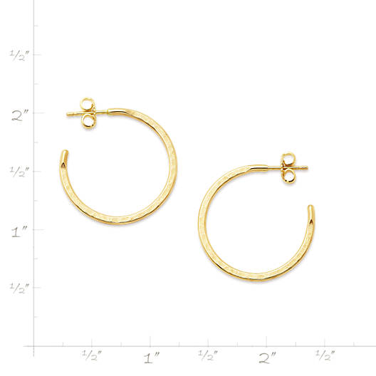 View Larger Image of Classic Hammered Hoop Earrings, Medium
