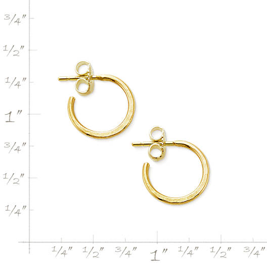 View Larger Image of Classic Hammered Hoop Earrings, Small