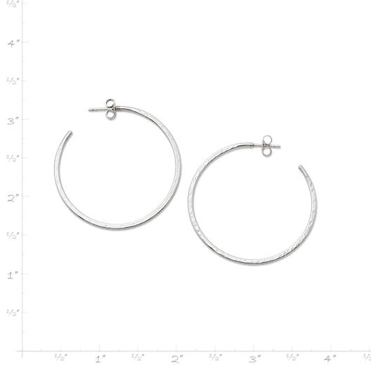 View Larger Image of Classic Hammered Hoop Earrings, Large
