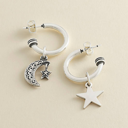 View Larger Image of Charm Holder Hoop Ear Posts