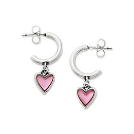 Sweetheart Pink Doublet Hoop Ear Posts