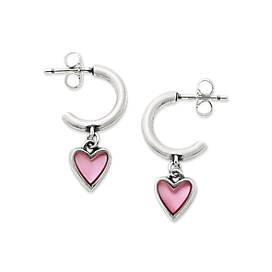 Sweetheart Pink Doublet Hoop Ear Posts