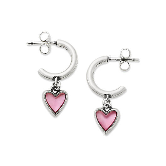 View Larger Image of Sweetheart Pink Doublet Hoop Ear Posts