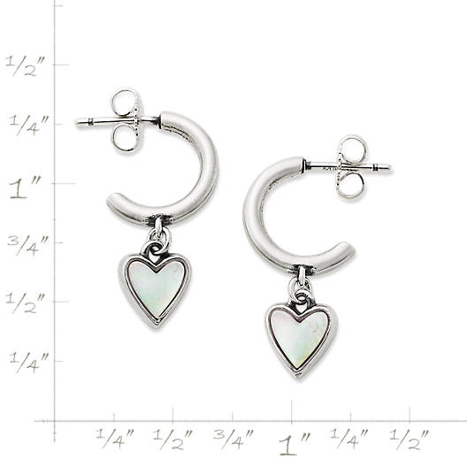 View Larger Image of Sweetheart Mother of Pearl Hoop Ear Posts