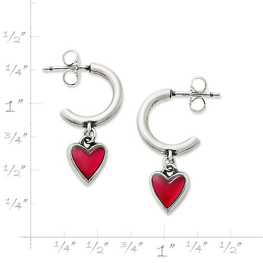View Larger Image of Sweetheart Rouge Doublet Hoop Ear Posts