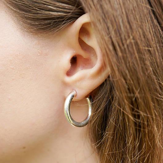 View Larger Image of Fiesta Hoop Ear Posts, Medium