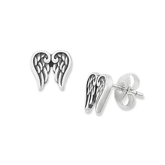View Larger Image of Angel Wings Ear Posts