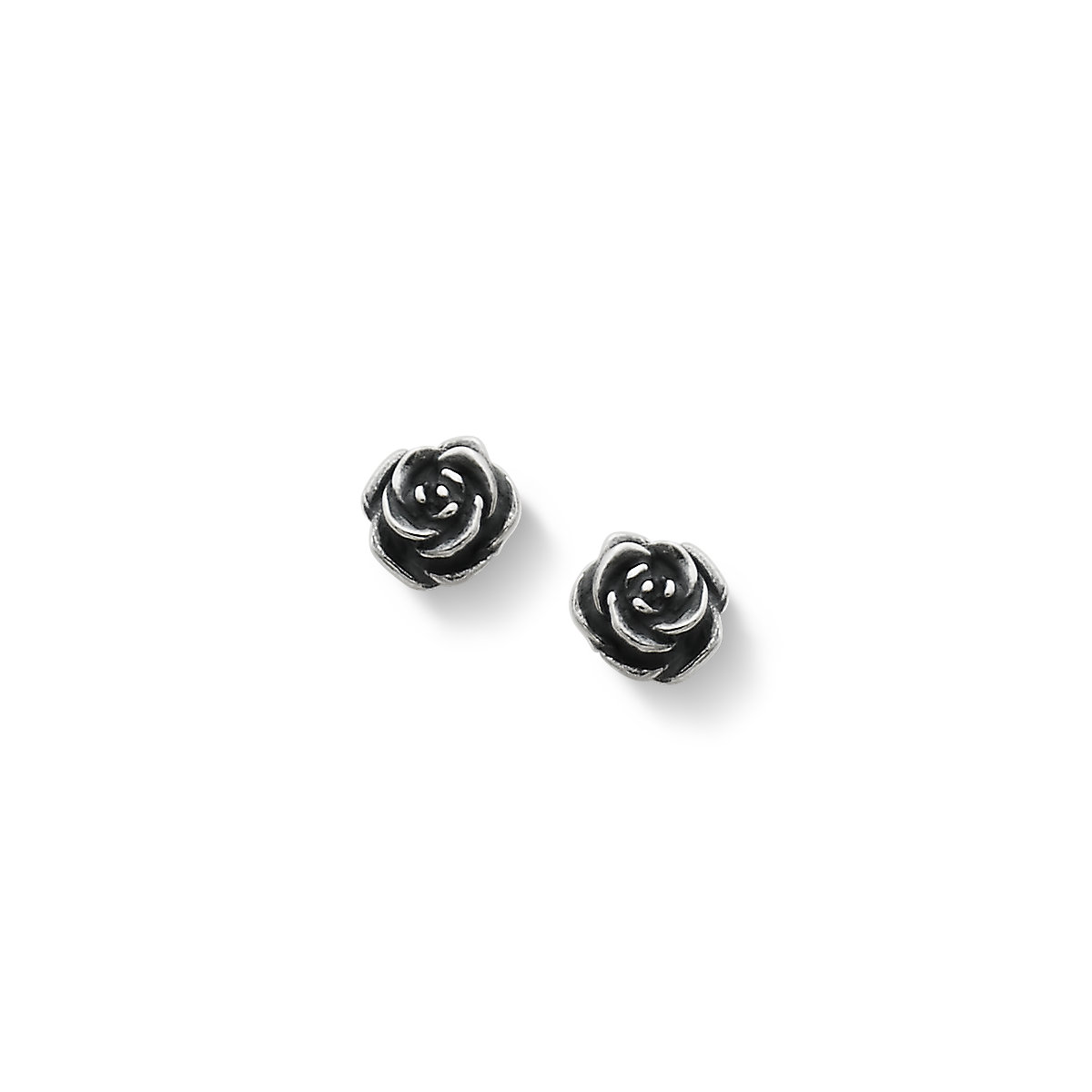 Silver Rose Studs Silver Rose Hoops Charm Earrings Silver Rose Earrings Silver Charm Earrings Silver Rose Earrings