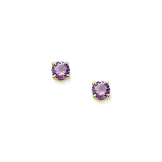 View Larger Image of Amethyst Gemstone Ear Posts