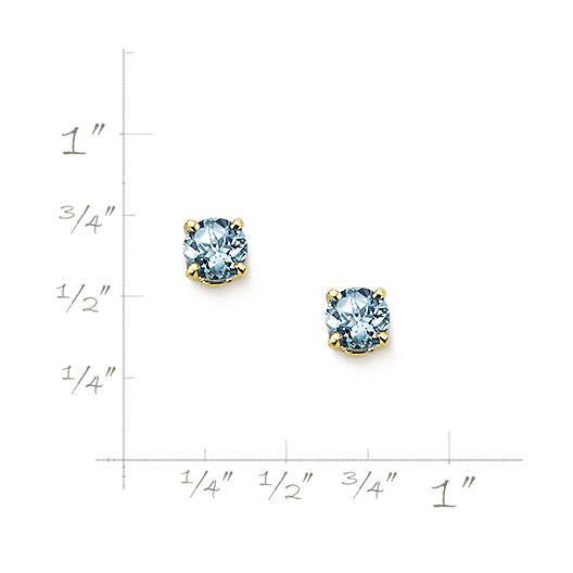 View Larger Image of Lab-Created Aqua Spinel Gemstone Ear Posts