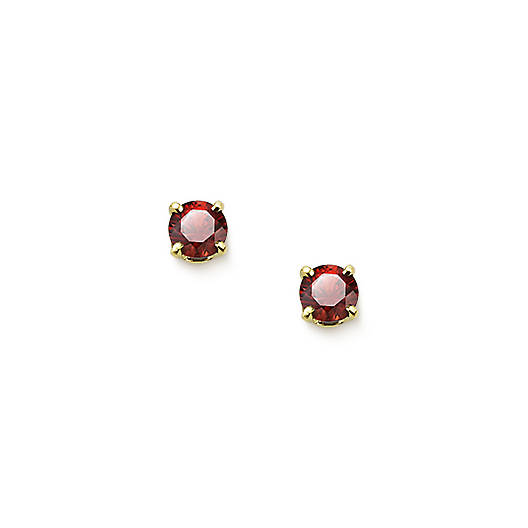 View Larger Image of Garnet Gemstone Ear Posts