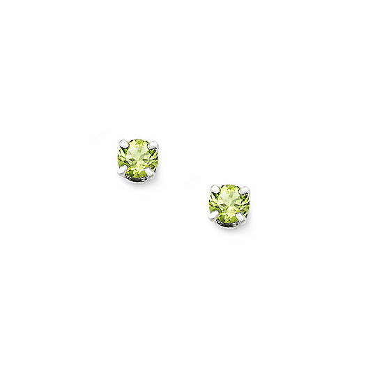 Peridot Gemstone Ear Posts
